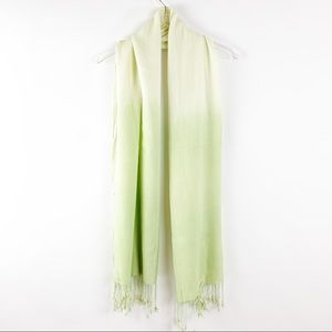 Accessories - Ombré Green Scarf with Fringe